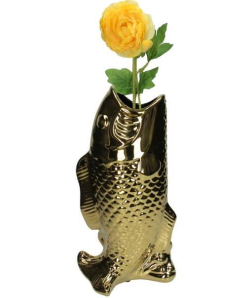 Vase Fish Gold 3