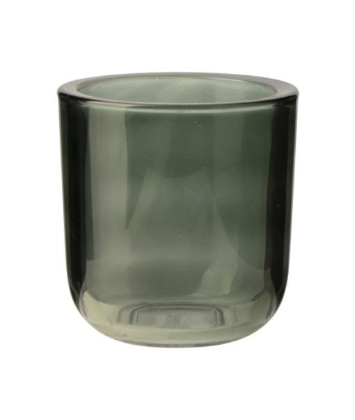 Windlicht Glas Groen M
